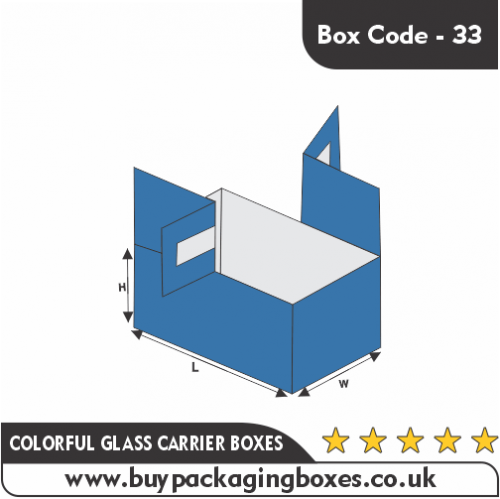 Colourful Glass Carrier Boxes