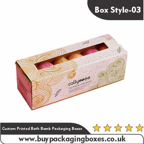 Custom Printed Bath Bomb Packaging Boxes