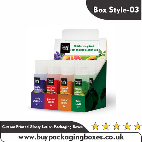 Custom Printed Glossy Lotion Packaging Boxes