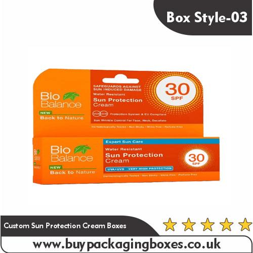 Custom Sun Protection Cream Boxes