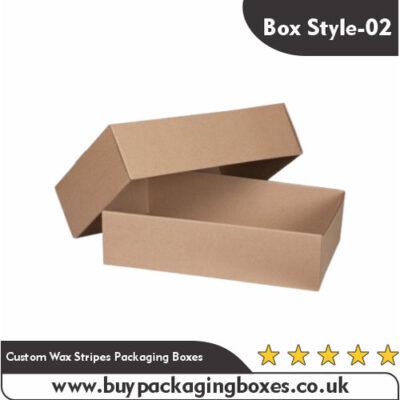 Custom Wax Stripes Packaging Boxes