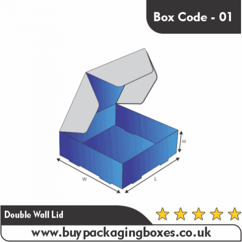 DOUBLE LOCKED WALL LID BOXES