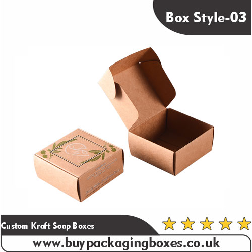 Custom Kraft Soap Boxes