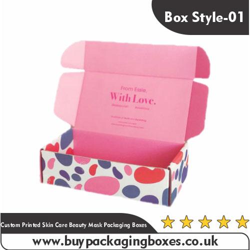 Custom Skin Care Beauty Mask Boxes