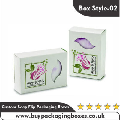 Custom Printed Soap Flip Packaging Boxes