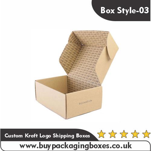 Custom Kraft Logo Shipping Boxes