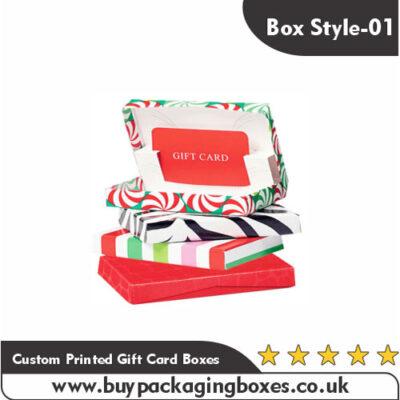 Custom Printed Gift Card Boxes