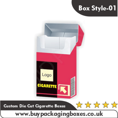 Custom Die Cut Cigarette Boxes