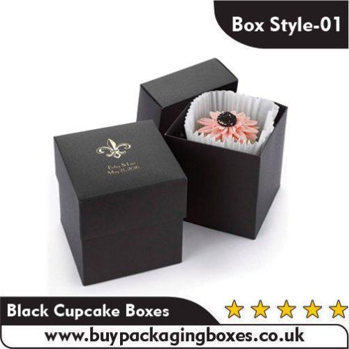 Black Cupcake Boxes